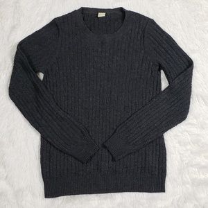 J. Crew Wool and Cashmere Gray Sweater Size Small